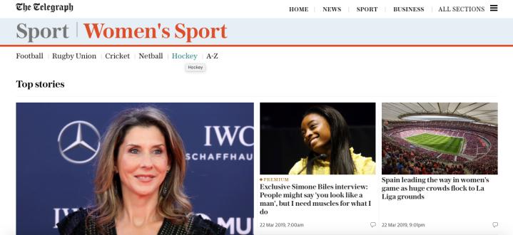 #40) Telegraph Women'sSport